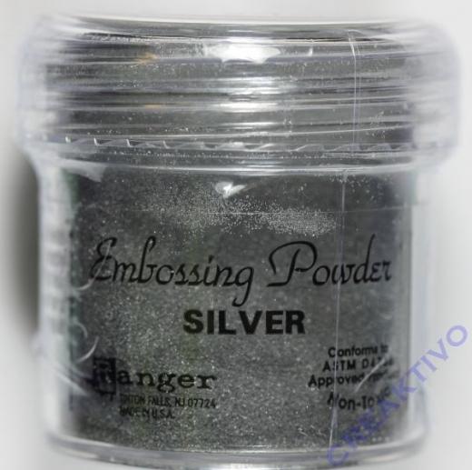 Ranger Embossing Puder silver 17g