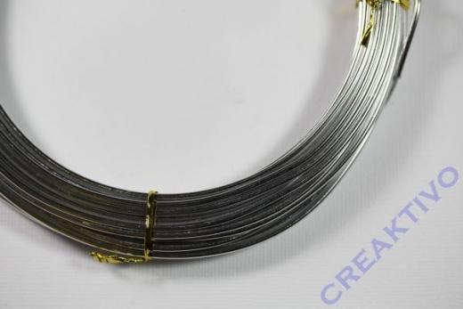 Alu Draht 2mm silber Meterware