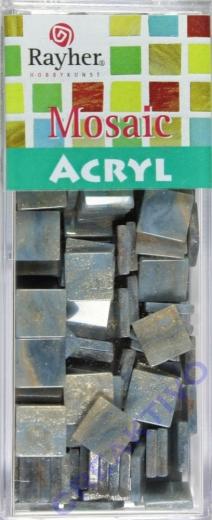 Acryl-Mosaik, 1x1 cm, marmoriert, zartblau