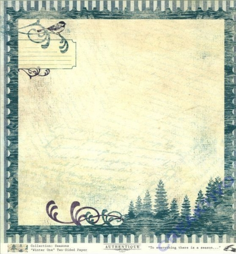 Scrapbooking Papier Winter One (Restbestand)