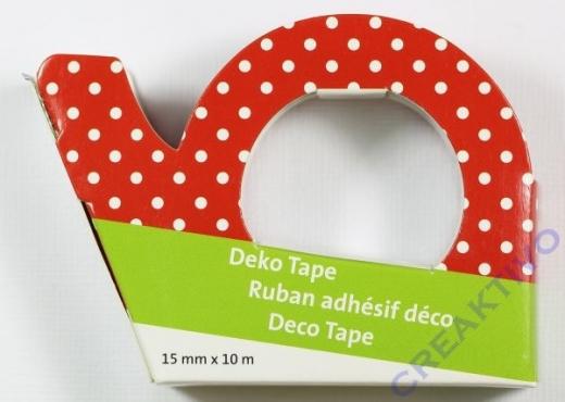 Heyda Deko Tape Punkte weiß