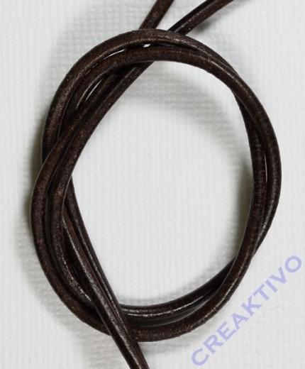 Rundriemen Lederband aus Rindleder 100cm 2mm braun