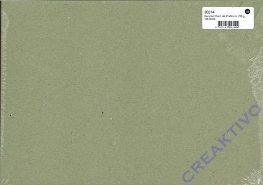 Karton recycled DinA4 125 Blatt