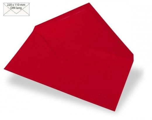 Kuvert DIN lang 220x110mm 90g kardinalrot