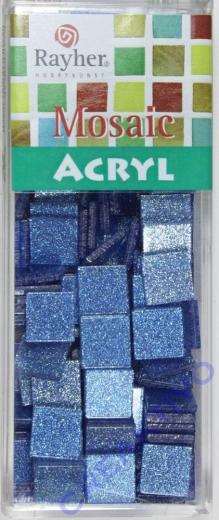 Acryl-Mosaik, 1x1 cm, Glitter, lagune