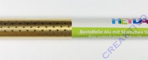 Bastelfolie Alu mit Sternchen gold