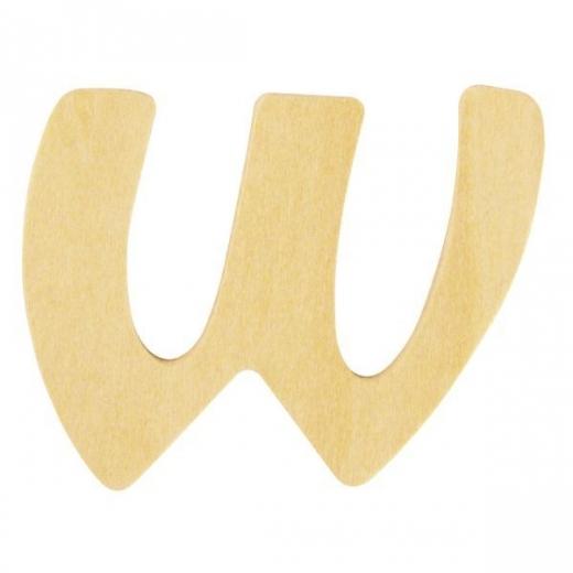 Holz-Buchstabe 6cm W