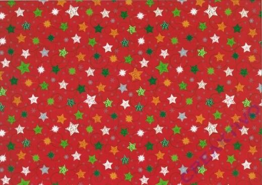 Bastelkarton Weihnachten Sterne rot (Restbestand)