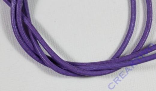 Rundriemen Lederband aus Rindleder 100cm 2mm flieder