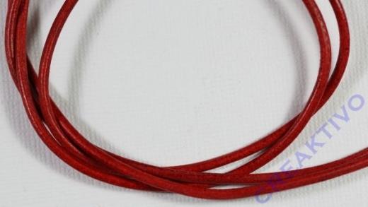 Rundriemen Lederband aus Rindleder 100cm 2mm rot