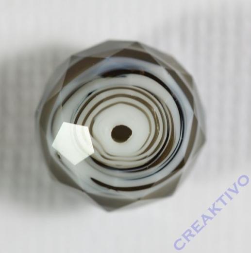 Glasschliffperle Briolette 12mm grau ton