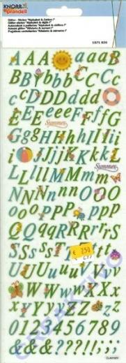 Glitter-Sticker Alphabet & Zahlen
