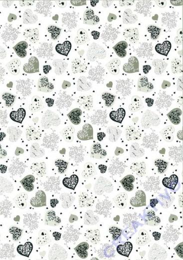 Bastelkarton A4 Big Hearts