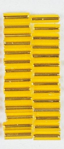 Glasstifte, 7/2 mm, mit Silbereinzug gelb