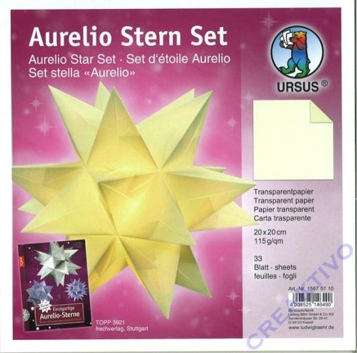 Aurelio Stern Set 20x20cm transparent creme