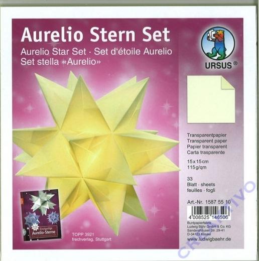 Aurelio Stern Set 15x15cm transparent creme