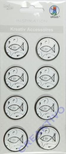 Kreativ Accessoires Charity - Fische silber