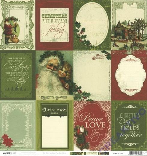 Scrapbooking Papier St. Nicholas - Mr. Claus (Restbestand)