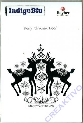 IndigoBlu Stempel A6 - Merry Christmas, Deer