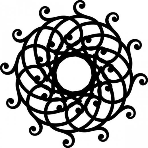 Marabu Silhouette-Schablone 15 x 15 cm Mandala (Restbestand)