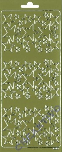 Rayher Stickerbogen Sterne 22x9cm goldf.