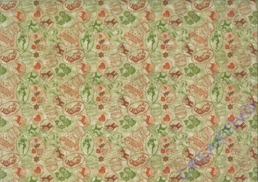 Motiv-Fotokarton 300g/qm 49,5x68cm Vintage Weihnachten Motiv 03
