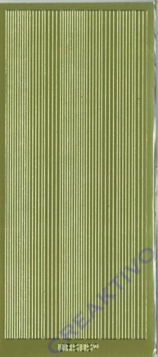 Sticker Zierstreifen Linien gold