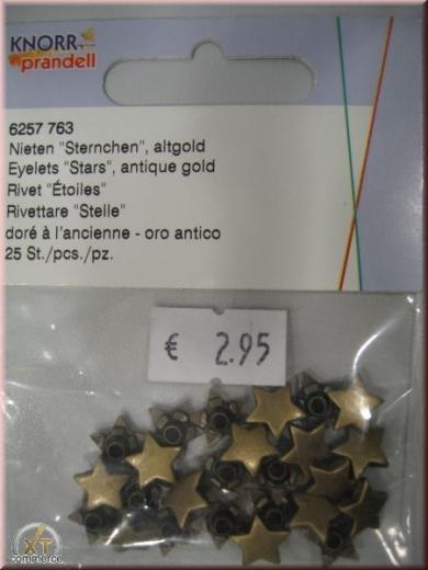Knorr Prandell Nieten Sternchen 25 St altgold