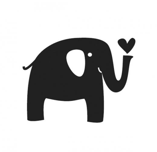 Butterer Mini-Holzstempel - Elefant