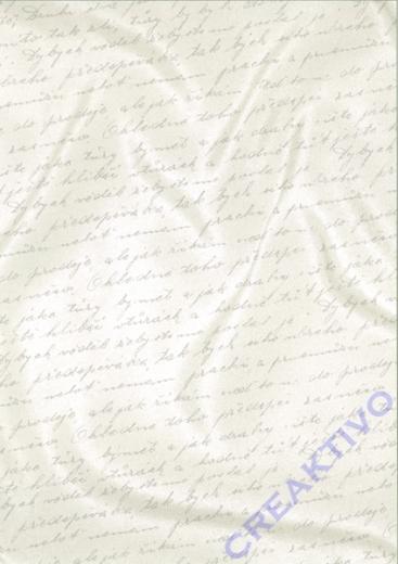Bastelkarton Starlight Hochzeit - Handschrift weiß/silber (Restbestand)