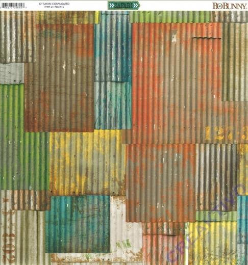 Scrapbooking Papier Safari - Corrugated