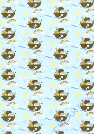 Motivkarton Arche Noah babyblau (Restbestand)