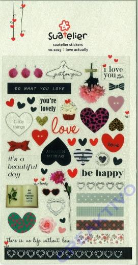 Stickerbogen Love actually