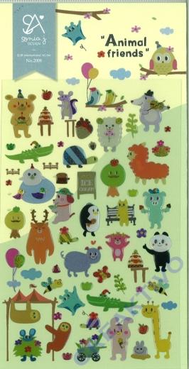 Stickerbogen Animal Friends