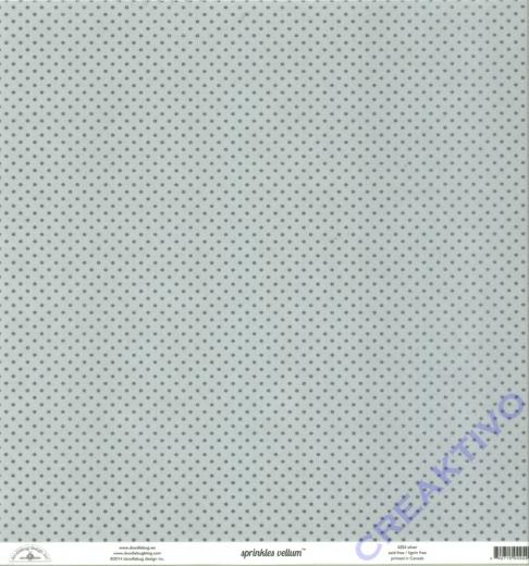 Doodlebug Transparentpapier Sprinkles 30,5x30,5cm - silver