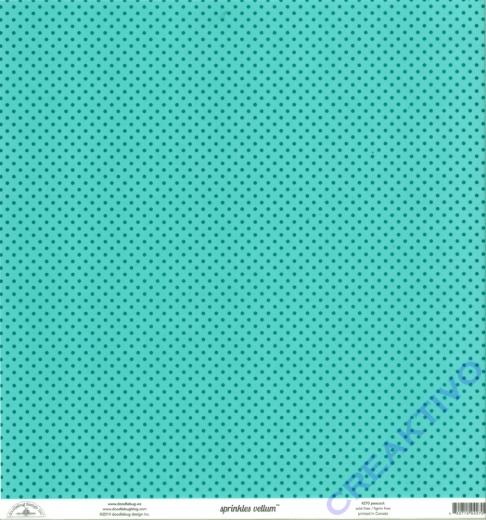 Doodlebug Transparentpapier Sprinkles 30,5x30,5cm - peacock