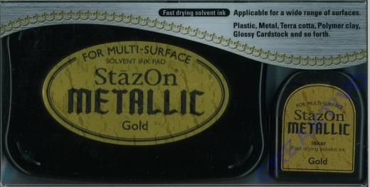 StazOn Stempelkissen Metallic Gold