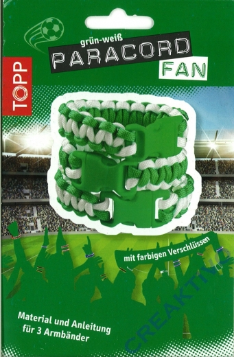 Paracord Fan grün-weiß