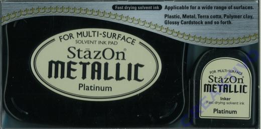 StazOn Stempelkissen Metallic Platimum