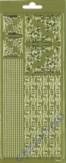 Rayher Stickerbogen Ornamente gold