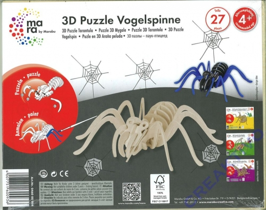 3D Puzzle Vogelspinne