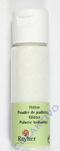 Rayher Flitter, ultrafein, weiß, Fläschchen 20ml