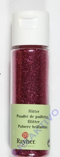 Rayher Flitter, ultrafein, pink, Fläschchen 20ml