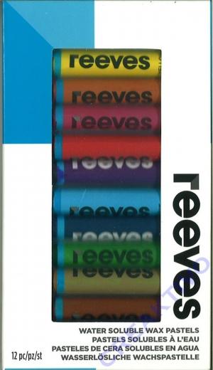 12 wasservermalbare Wachspastelle von Reeves