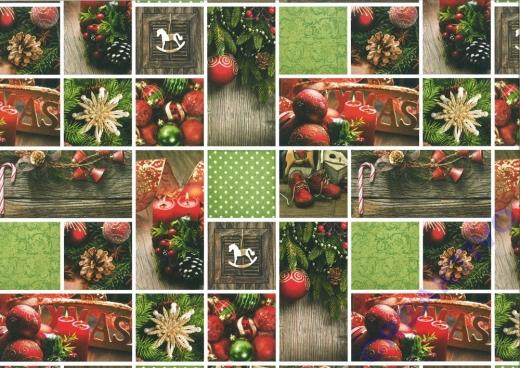 Motiv-Fotokarton 300g/qm 49,5x68cm Weihnachten rot/grün