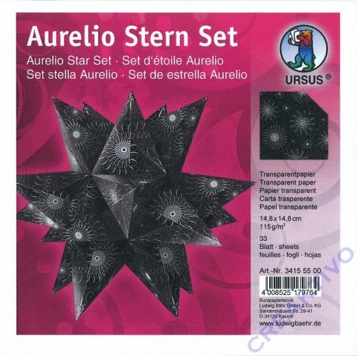 Aurelio Stern Set 14,8x14,8cm transparent Black&White