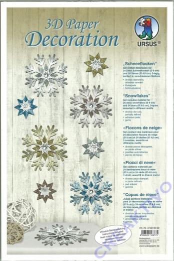 3D Paper Decoration Schneeflocken