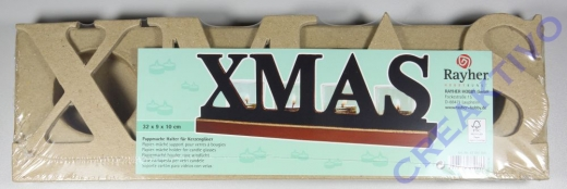 Pappmaché-Halter für Kerzengläser XMAS 10cm hoch