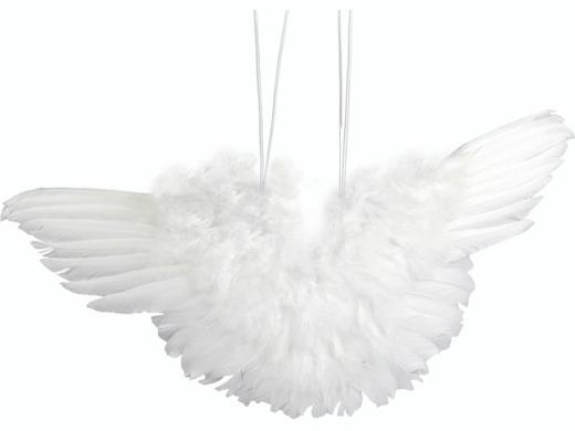 Engelflügel aus Federn 48cm  1 Stück weiß