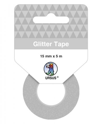 Glitter Tape silber